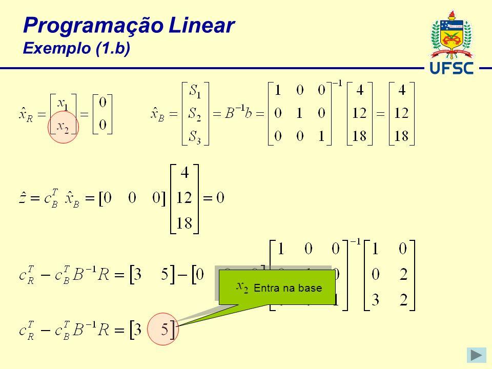 Programação Linear Exemplo (1.b)