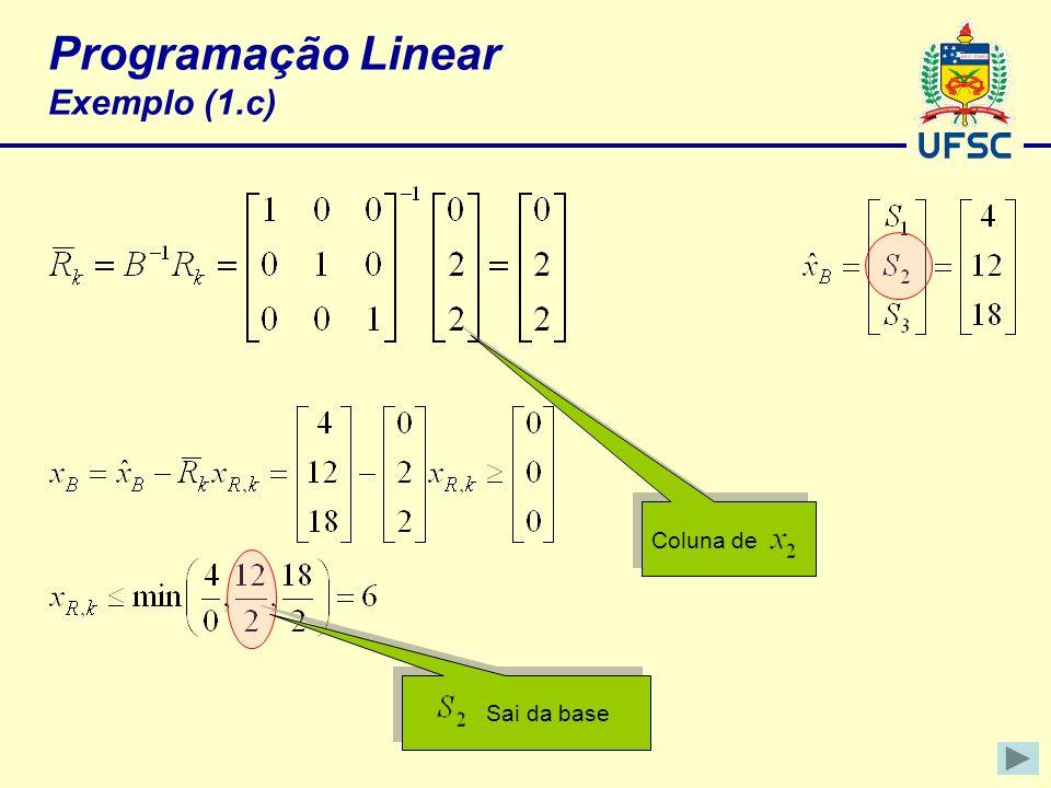 Programação Linear Exemplo (1.c)