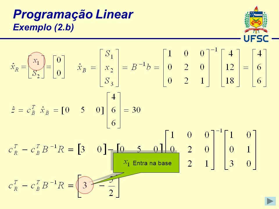Programação Linear Exemplo (2.b)
