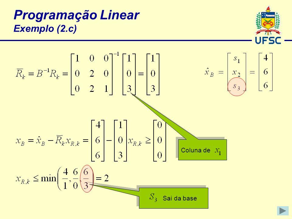 Programação Linear Exemplo (2.c)