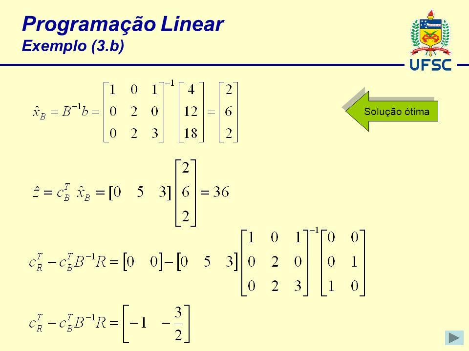 Programação Linear Exemplo (3.b)