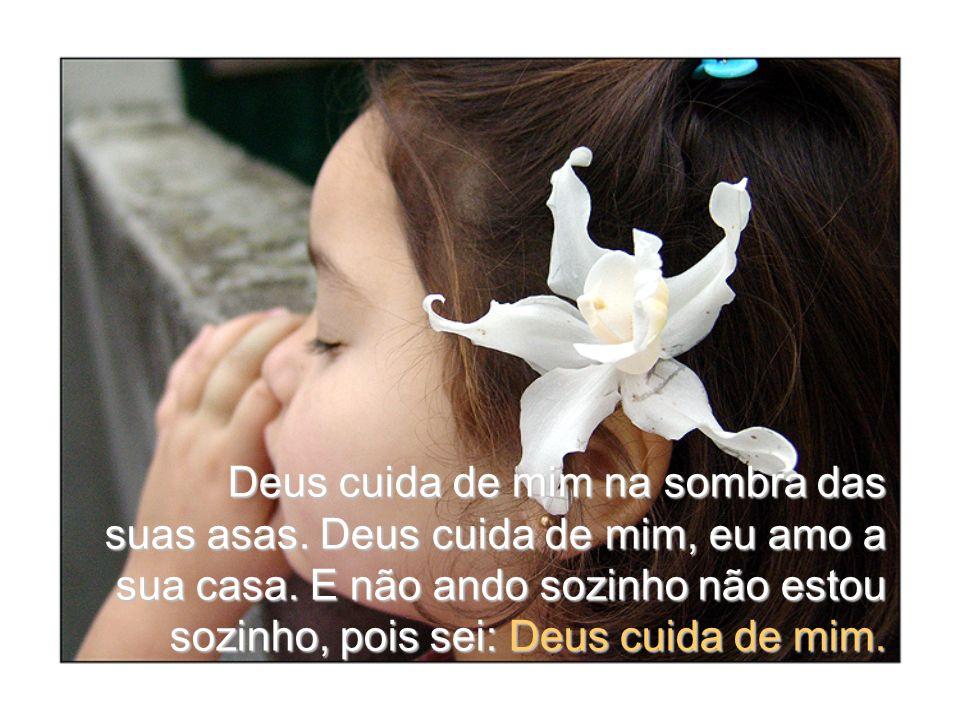 Deus cuida de mim na sombra das suas asas