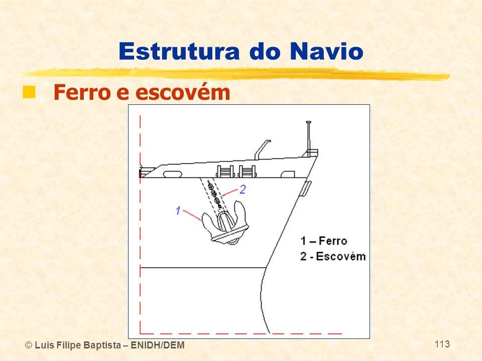 Estrutura do Navio Ferro e escovém © Luis Filipe Baptista – ENIDH/DEM