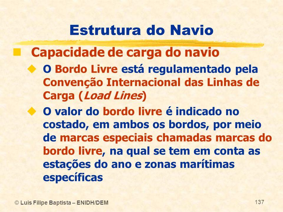 Estrutura do Navio Capacidade de carga do navio