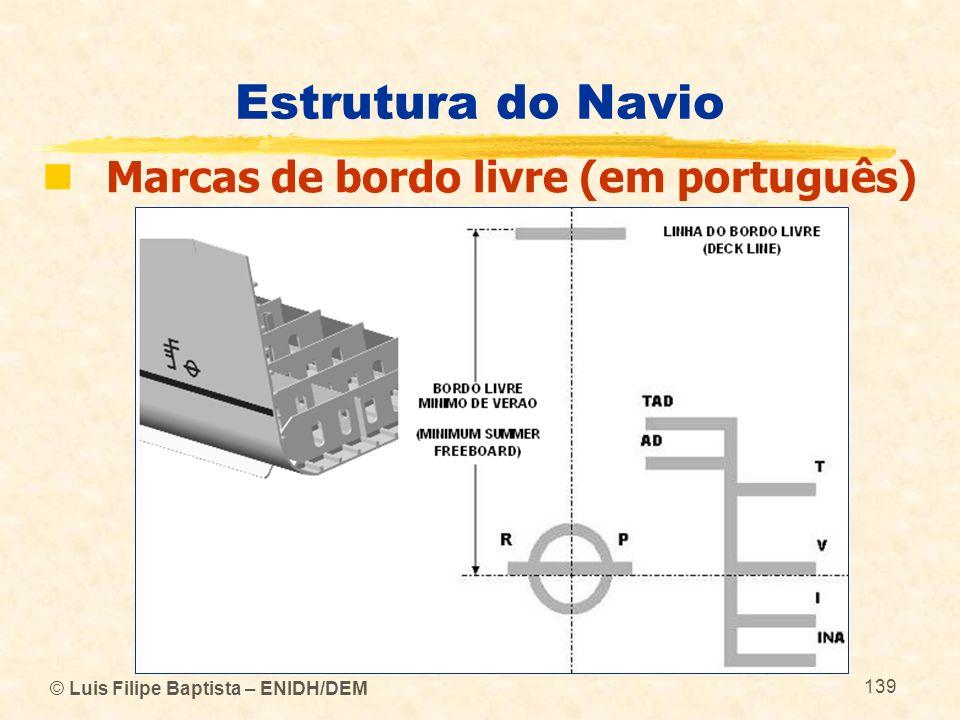 Estrutura do Navio Marcas de bordo livre (em português)