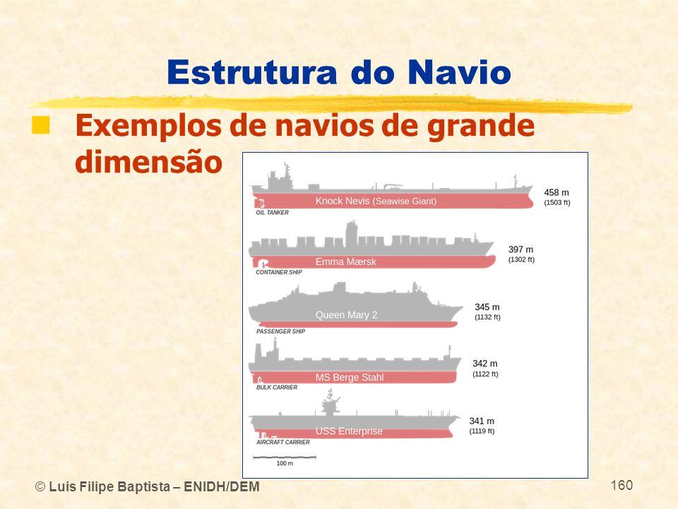 Estrutura do Navio Exemplos de navios de grande dimensão