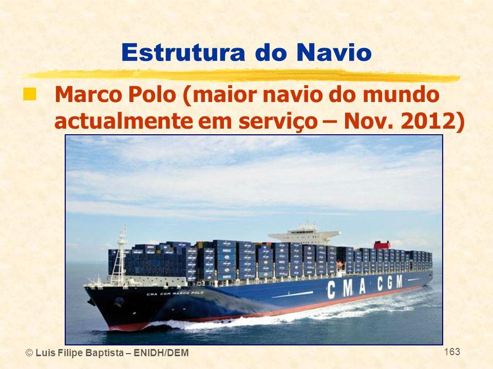 Estrutura do Navio Marco Polo (maior navio do mundo actualmente em serviço – Nov. 2012) © Luis Filipe Baptista – ENIDH/DEM.