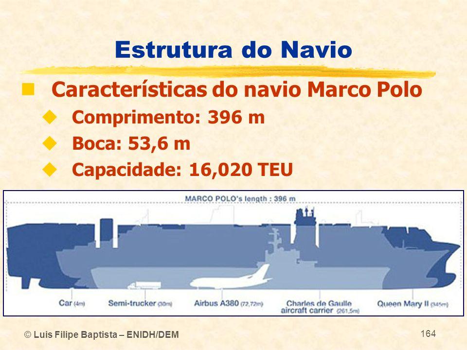 Estrutura do Navio Características do navio Marco Polo