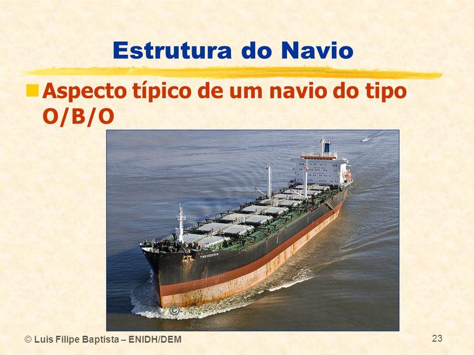 Estrutura do Navio Aspecto típico de um navio do tipo O/B/O