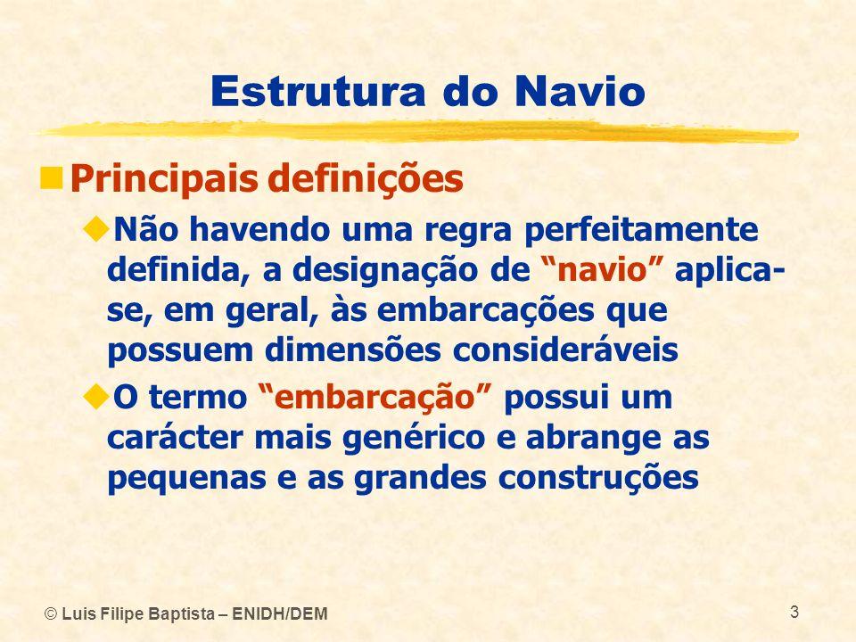 Estrutura do Navio Principais definições