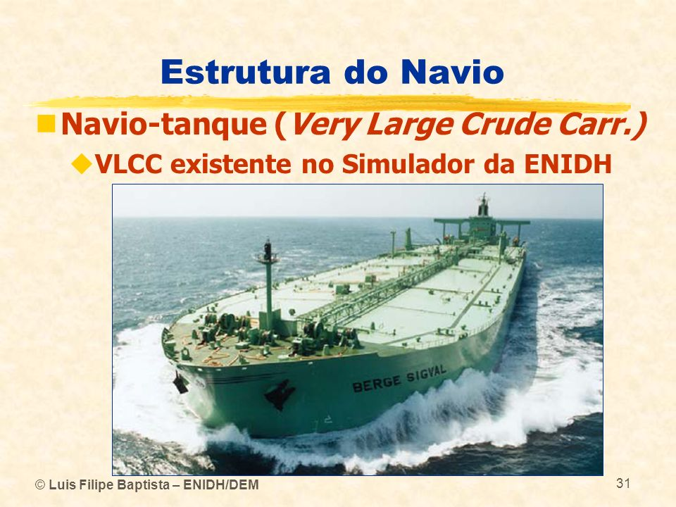 Estrutura do Navio Navio-tanque (Very Large Crude Carr.)