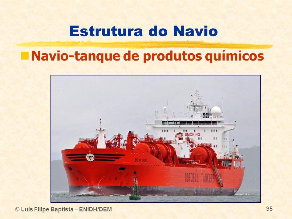 Estrutura do Navio Navio-tanque de produtos químicos