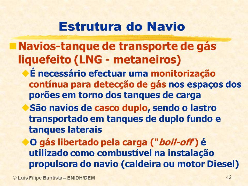 Estrutura do Navio Navios-tanque de transporte de gás liquefeito (LNG - metaneiros)