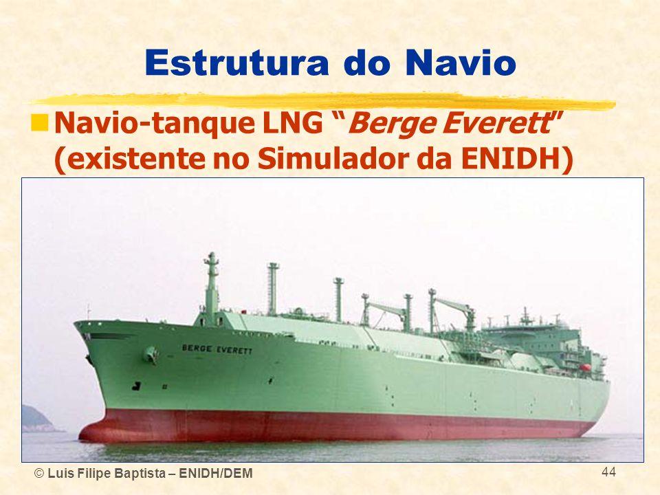 Estrutura do Navio Navio-tanque LNG Berge Everett (existente no Simulador da ENIDH) © Luis Filipe Baptista – ENIDH/DEM.