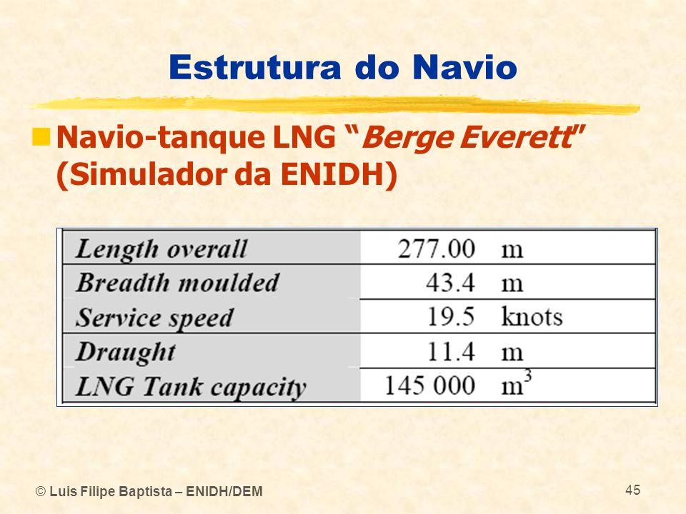 Estrutura do Navio Navio-tanque LNG Berge Everett (Simulador da ENIDH) © Luis Filipe Baptista – ENIDH/DEM.