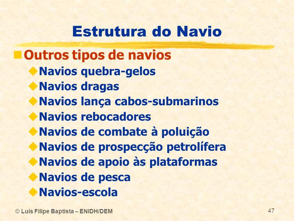 Estrutura do Navio Outros tipos de navios Navios quebra-gelos
