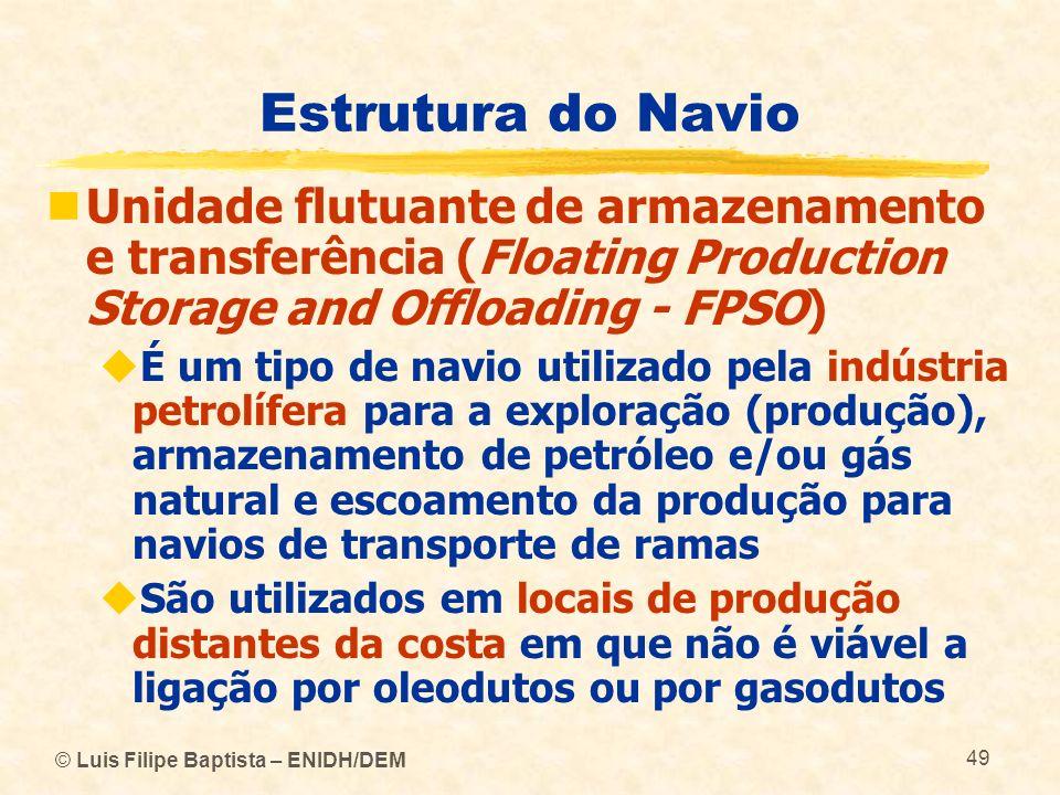 Estrutura do Navio Unidade flutuante de armazenamento e transferência (Floating Production Storage and Offloading - FPSO)
