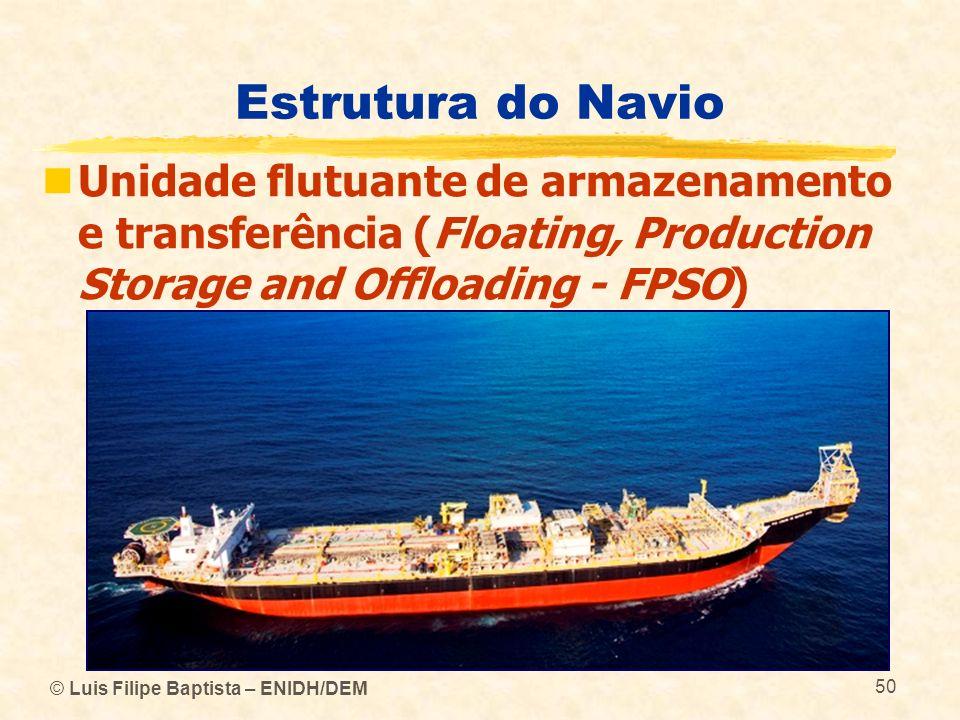 Estrutura do Navio Unidade flutuante de armazenamento e transferência (Floating, Production Storage and Offloading - FPSO)