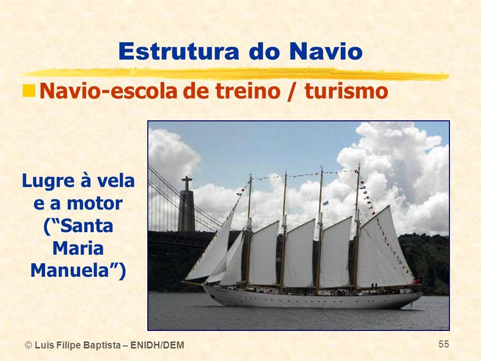 Lugre à vela e a motor ( Santa Maria Manuela )