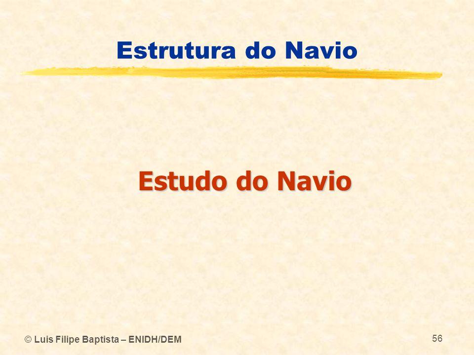 Estudo do Navio Estrutura do Navio © Luis Filipe Baptista – ENIDH/DEM