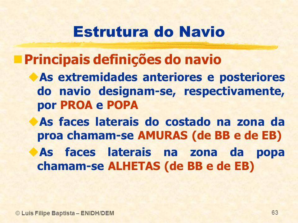 Estrutura do Navio Principais definições do navio