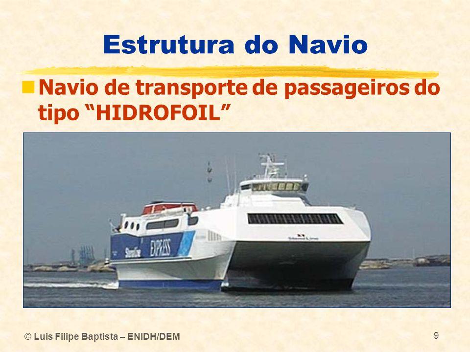 Estrutura do Navio Navio de transporte de passageiros do tipo HIDROFOIL © Luis Filipe Baptista – ENIDH/DEM.