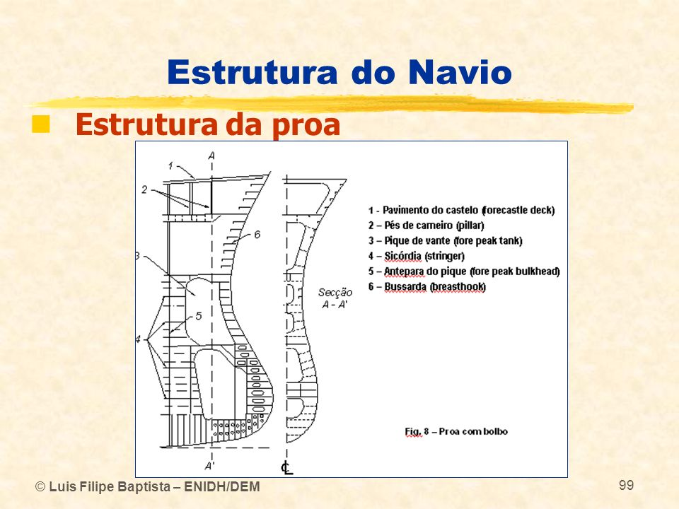 Estrutura do Navio Estrutura da proa