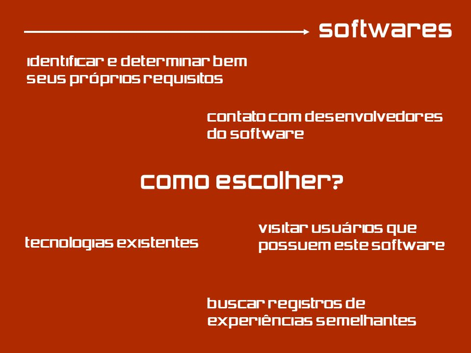softwares Como escolher
