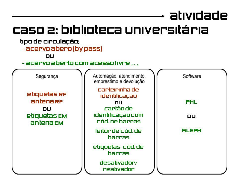 caso 2: biblioteca universitária