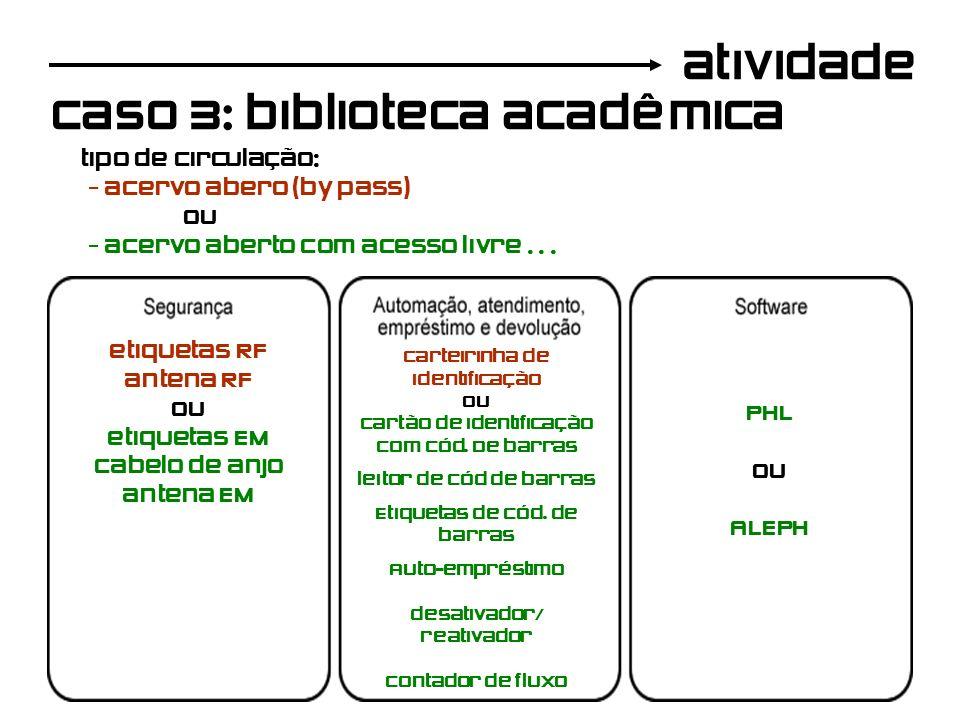 caso 3: biblioteca acadêmica