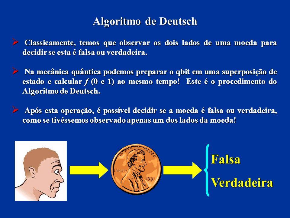 Falsa Verdadeira Algoritmo de Deutsch