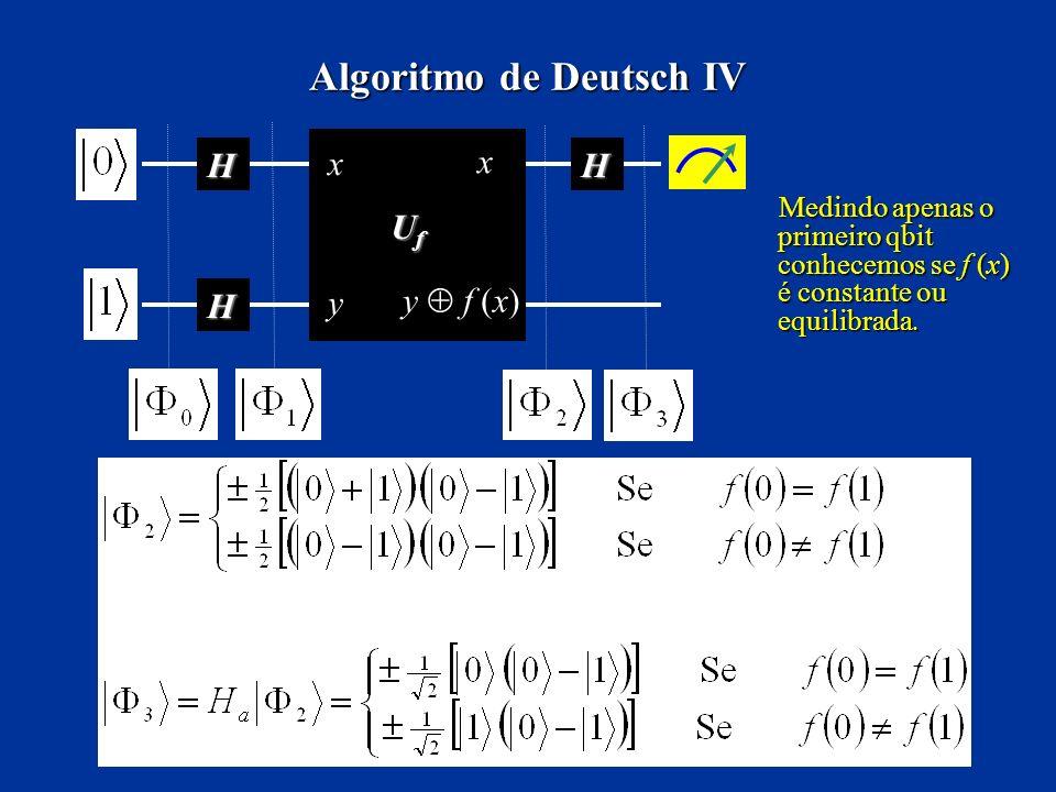 Algoritmo de Deutsch IV