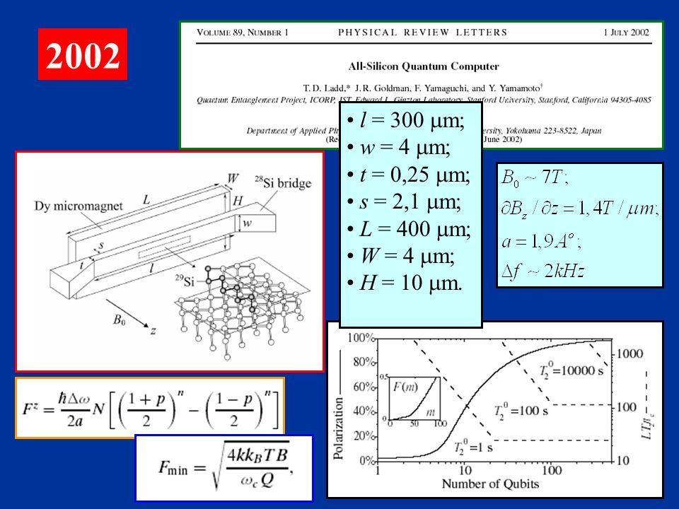 2002 l = 300 mm; w = 4 mm; t = 0,25 mm; s = 2,1 mm; L = 400 mm;