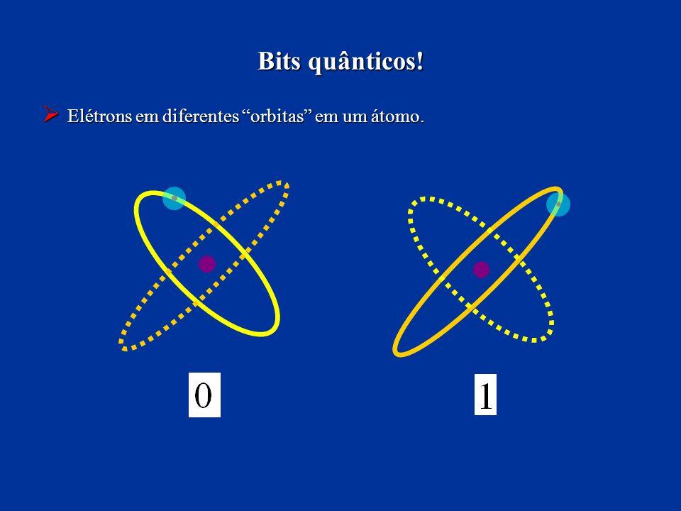 Bits quânticos! Elétrons em diferentes orbitas em um átomo.