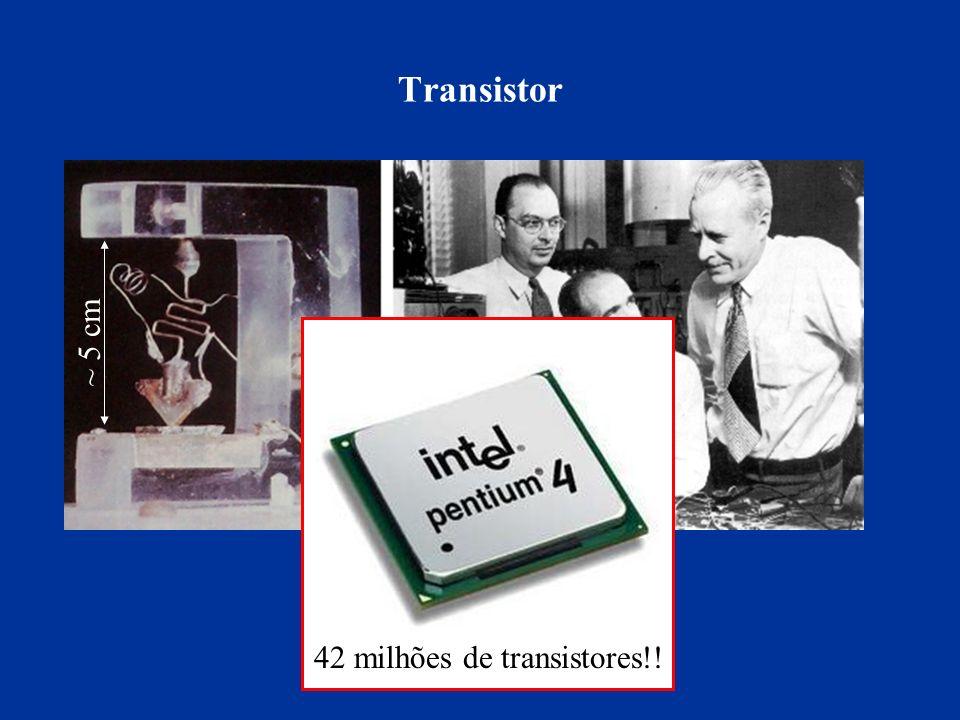 Transistor ~ 5 cm 42 milhões de transistores!!