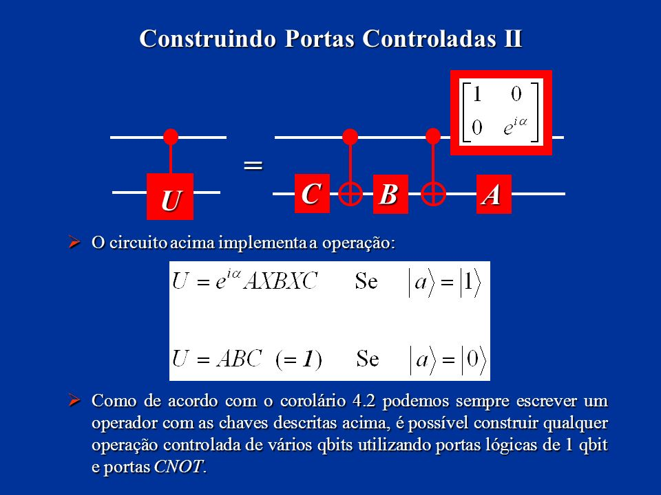 Construindo Portas Controladas II