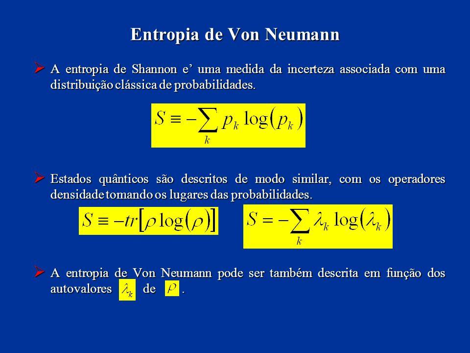 Entropia de Von Neumann