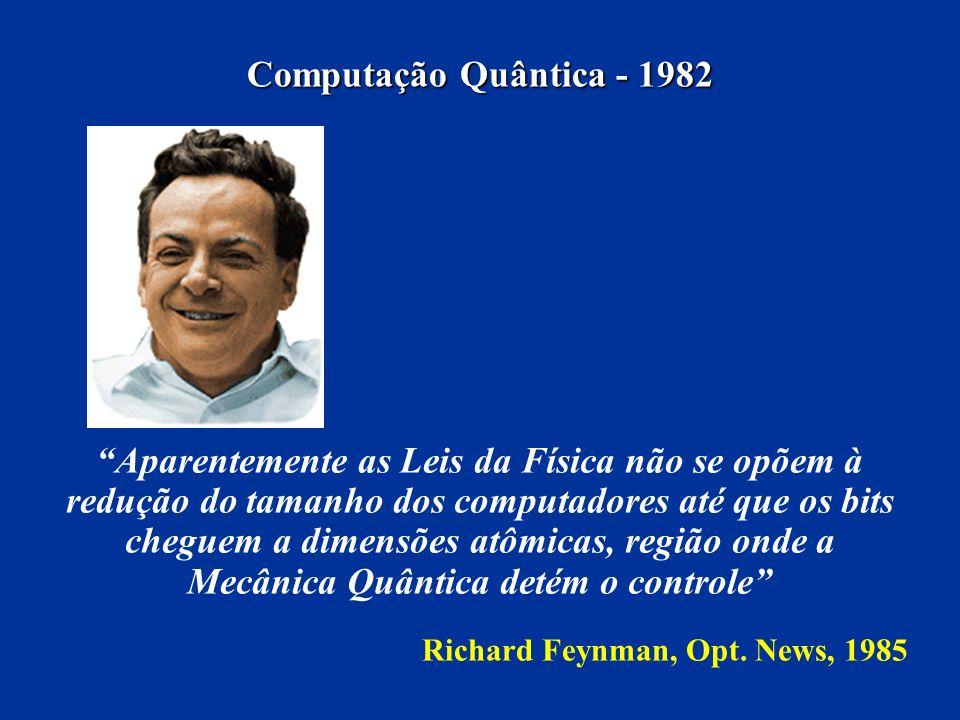 Computação Quântica - 1982