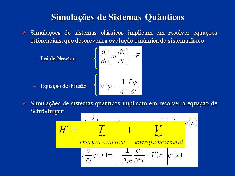 Simulações de Sistemas Quânticos