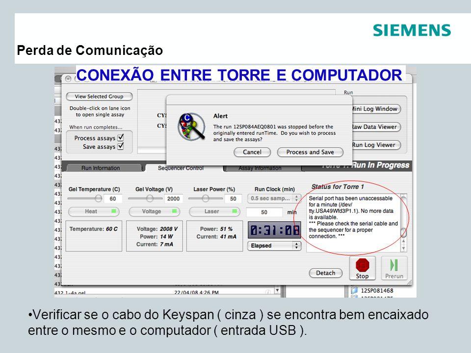CONEXÃO ENTRE TORRE E COMPUTADOR