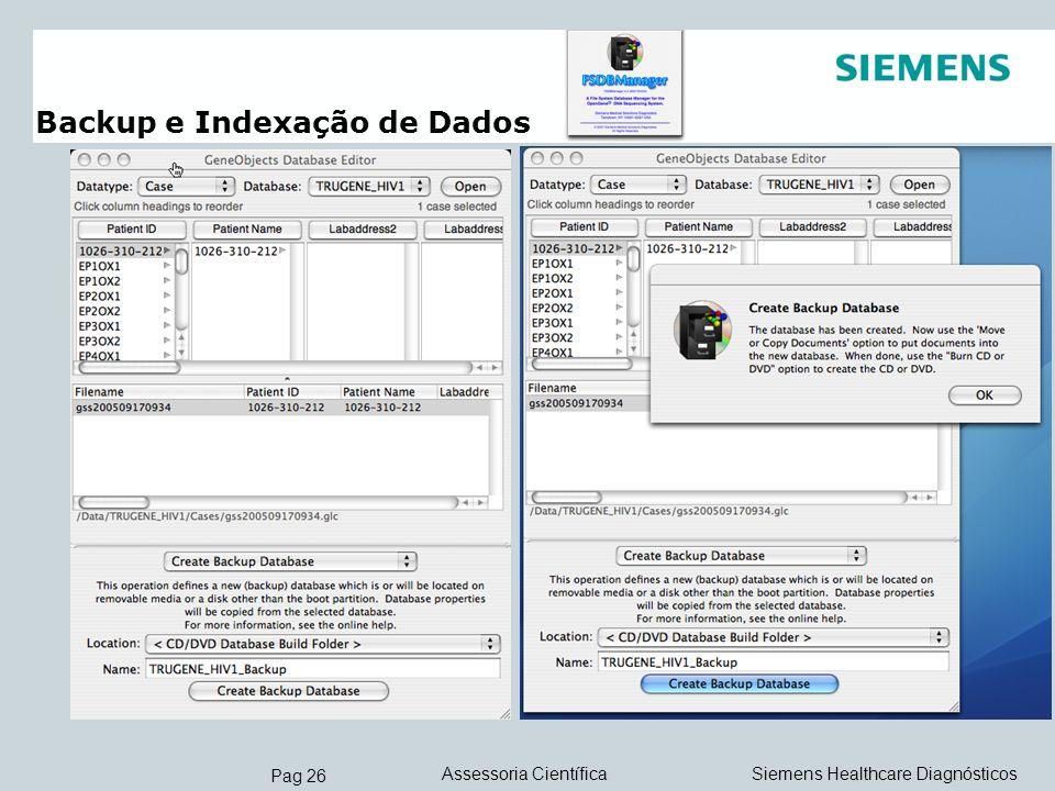 Backup e Indexação de Dados