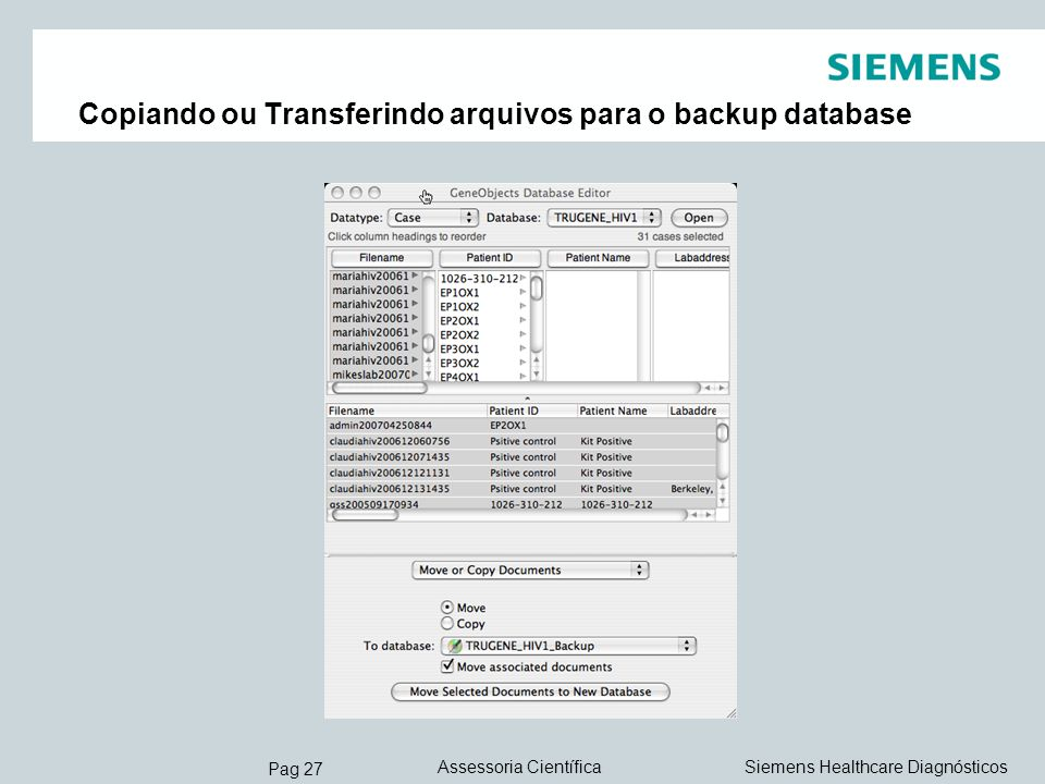 Copiando ou Transferindo arquivos para o backup database