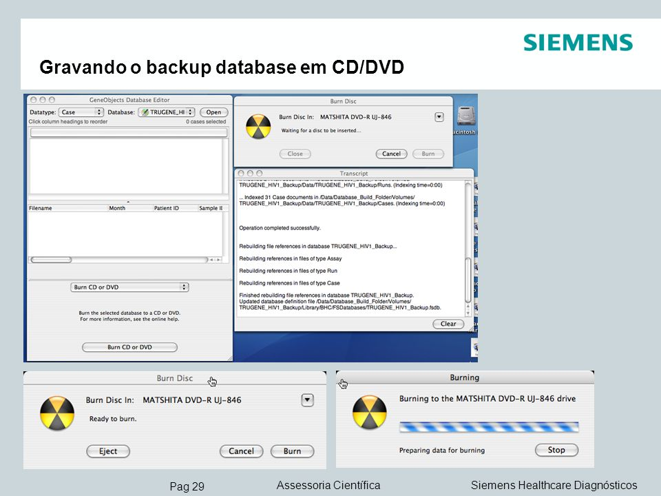 Gravando o backup database em CD/DVD