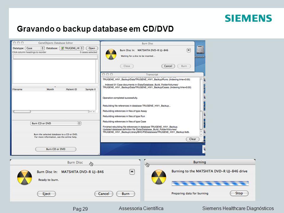 Gravando o backup database em CD/DVD