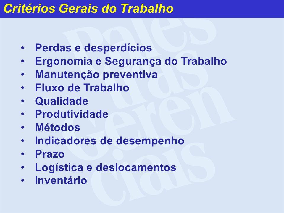 Critérios Gerais do Trabalho
