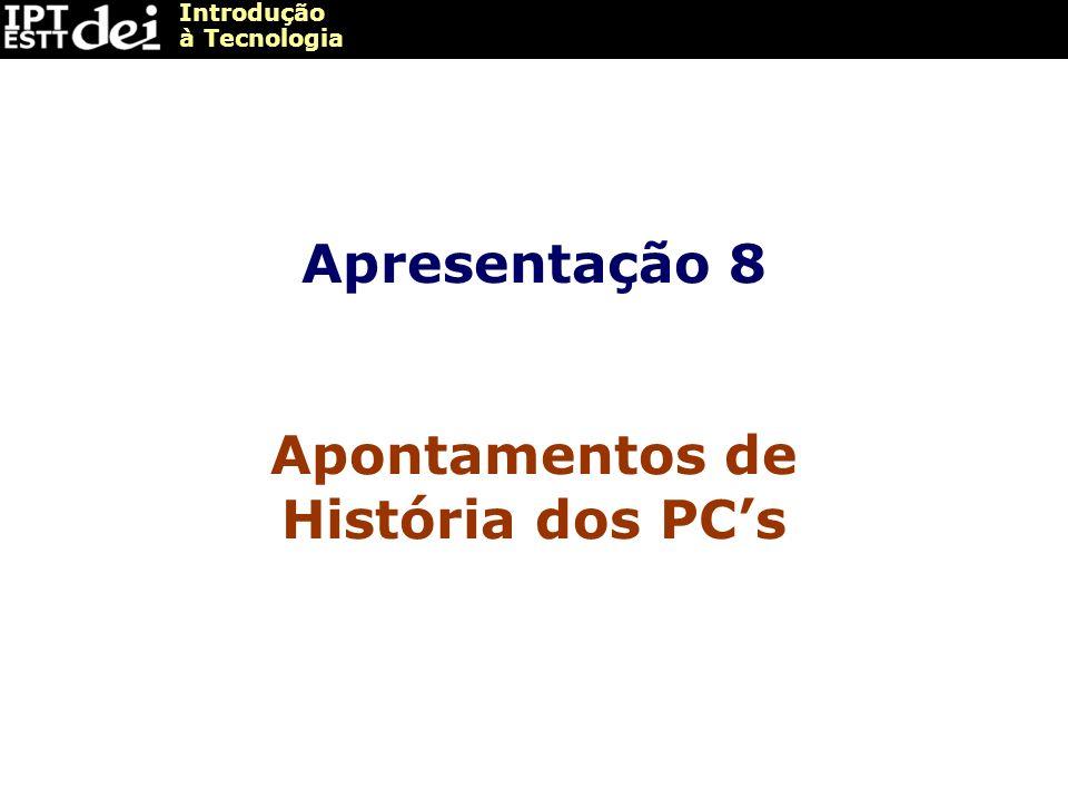 Apontamentos de História dos PC's