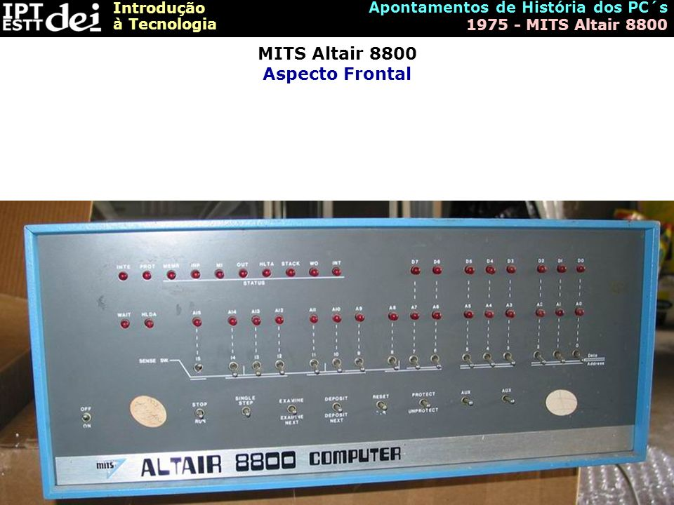 MITS Altair 8800 Aspecto Frontal