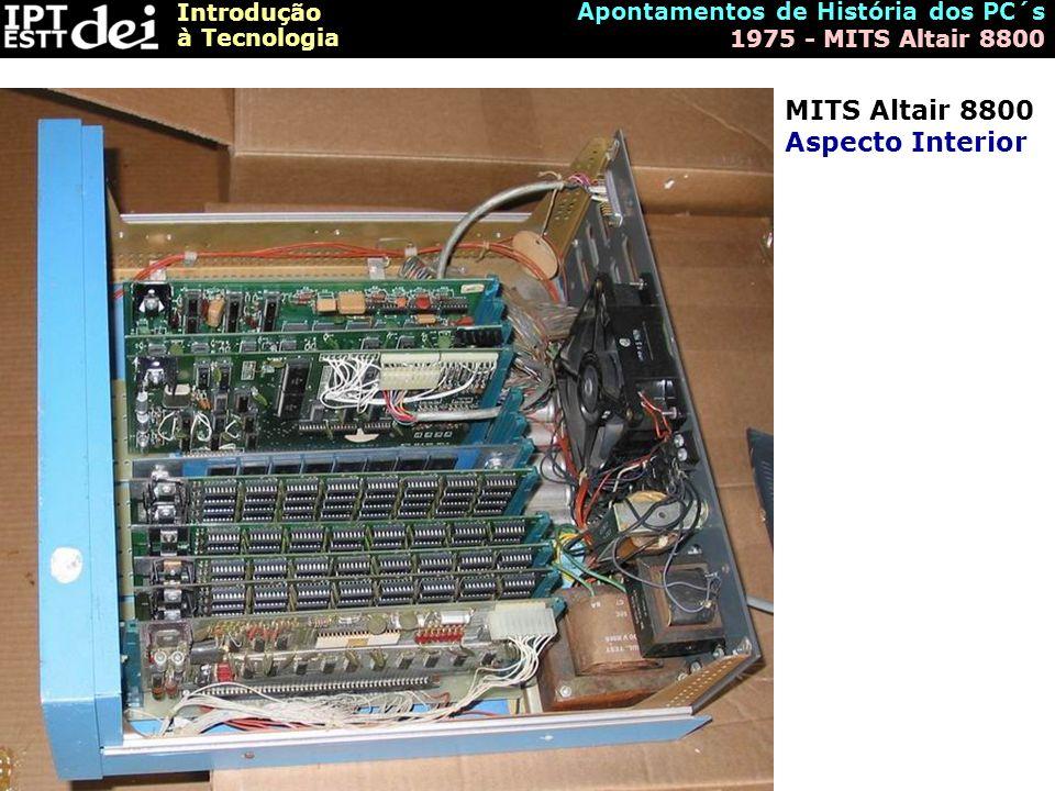 MITS Altair 8800 Aspecto Interior
