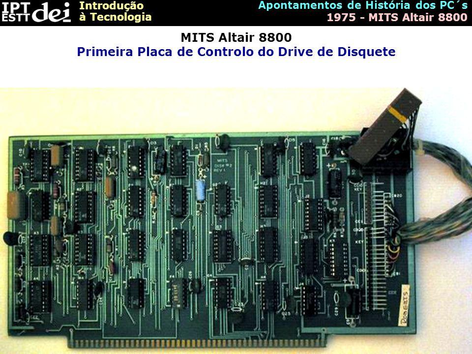 MITS Altair 8800 Primeira Placa de Controlo do Drive de Disquete