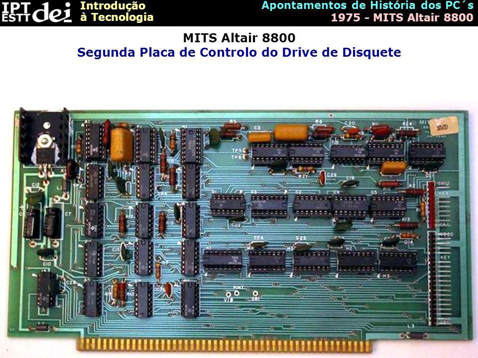 MITS Altair 8800 Segunda Placa de Controlo do Drive de Disquete